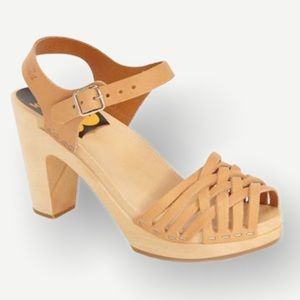 Swedish Hasbeen's Sky High braided sandals